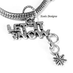 European Let It Snow Charm Bead Pendant